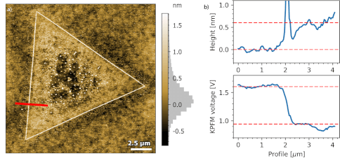 AFM topography MoS2 monolayer