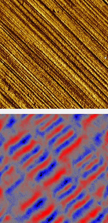 Figure 3. Magnetic force microscopy of hard drive with magnetically stored data.