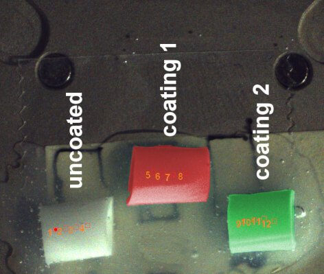 Optical overview image of samples.