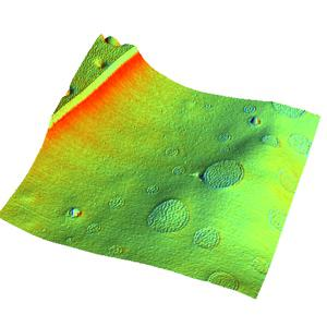 Overlay of slope on topography