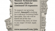 Technical Sales Specialist (PhD) for continued US expansion