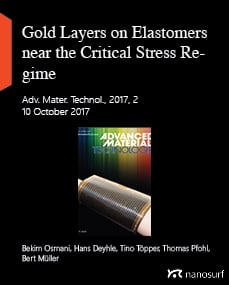 Gold Layers on Elastomers near the Critical Stress Regime