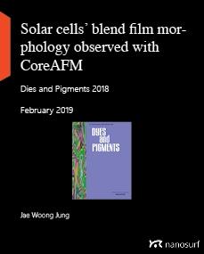 Solar cells' blend film morphology observed with CoreAFM