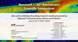 Nanosurf — 20th Anniversary Scientific Symposium