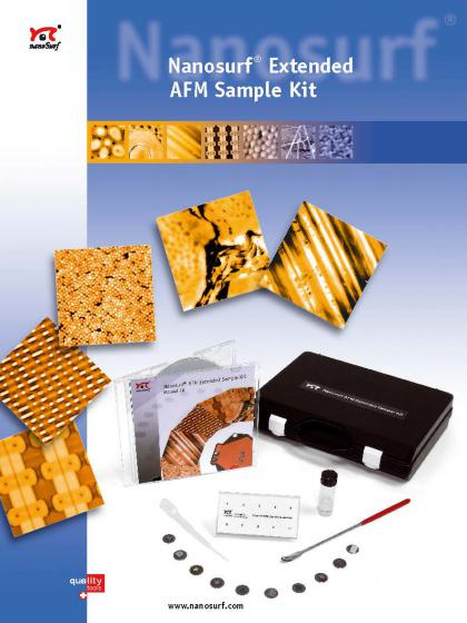 Extended AFM sample kit