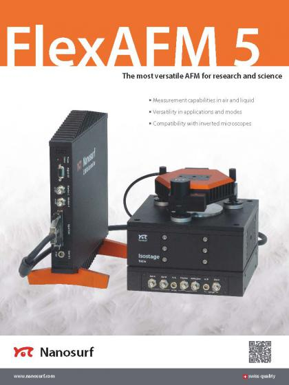 FlexAFM 5 scan head brochure
