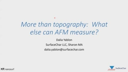Webinar: More than topography: What else can AFM measure?