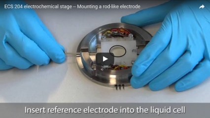 ECS 204 electrochemical stage – Mounting a rod electrode