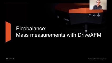 Webinar: PicoBalance — Mass measurements with DriveAFM