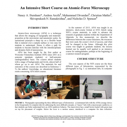 An Intensive Short Course on Atomic-Force Microscopy