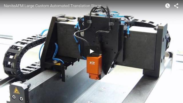 NaniteAFM on a large custom automated translation stage