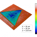 Topography and KPFM of CVD grown molybdenum disulfide monolayers measured by AFM