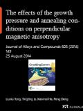 The effects of the growth pressure and annealing conditions on perpendicular magnetic anisotropy of sputtered NdFeCo films on Si(111)