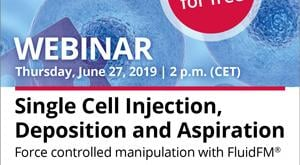Wiley to hold webinar with Nanosurf on cell manipulation with FluidFM®