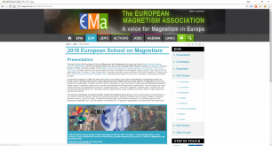 2018 European School on Magnetism