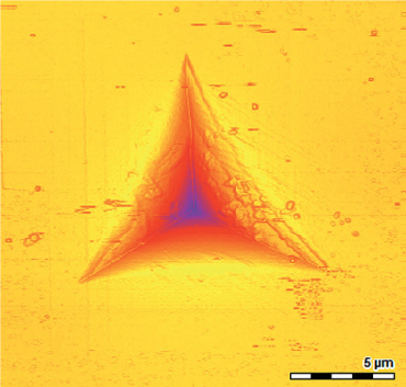 AFM image of indent